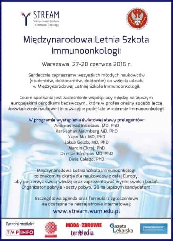 Letnia Szkoła Immunoonkologii